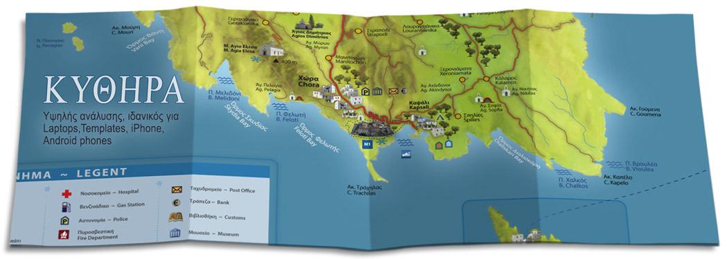 kythira map